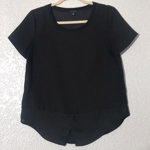 Ann Taylor Black And Sheer Blouse